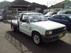 1995 Mazda B2600 Bravo White 5 Speed Manual Cab Chassis Punchbowl Canterbury Area Preview