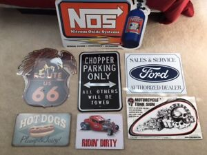 NEW  ManCave/Garage/ Metal Signs NOS/Biker/Ford