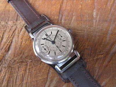 Chronograph EBERHARD.Co Vintage-dial restored Original-case-Stainless steel