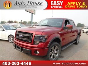 2014 FORD F150 4X4CREW CAB FX4 LEATHER NAVI B CAM 5.0 V8 LOW KM
