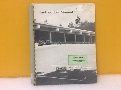 Fluke 294033 540b Thermal Transfer Standard Instruction Manual