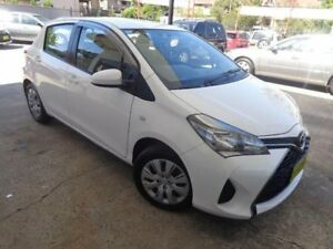 2016 Toyota Yaris NCP130R MY15 Ascent White 4 Speed Automatic Hatchback Sylvania Sutherland Area Preview