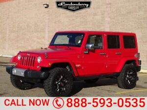 2014 Jeep Wrangler Unlimited 4WD SAHARA  Navigation (GPS),  Leat