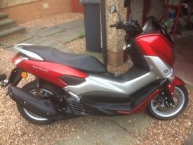 Yamaha N-Max 125 Scooter 2017 March Registered. 450miles Red. Fantastic Condition.