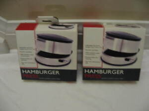 New-2 Burger presses-18/8 Stainless steel-Makes 1/4 to over 1 lb