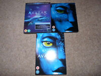 'Reduced' 3 x Separate Editions of the Film AVATAR , DVD, Bluray Steelbook and Bluray Collector's Ed