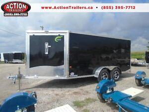 2017 NEO 7X18 ALL ALUMINUM ENCLOSED DRIVE IN/OUT CLEARANCE PRICE
