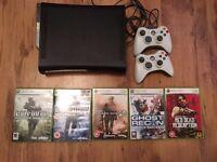 Xbox 360 elite 120gb with 5 games
