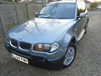 BMW X3 PETROL 2004, GRAPHITE GREY 5DOORS, SERVICE RECORDS FULL LEATHER.