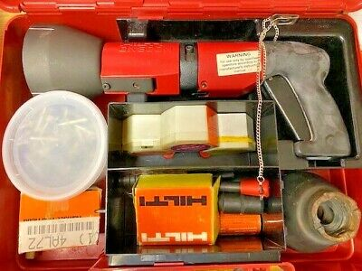 Hilti Dx 600n Heavy Duty Powder Actuated Gun Kit W Case Accessories See Pics