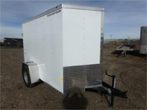 5 X 8 BY WELLS CARGO - LOADED W/OPTIONS FOR ONLY $3,474 TAX IN!