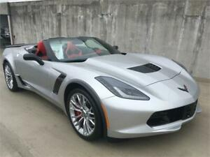 2019 Chevrolet Corvette Z06 3LZ NEW CONVERTIBLE silver with red