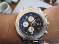 Breitling Super Avenger A13370 Aeromarine Chronograph Blue Dial Arabic – model 1