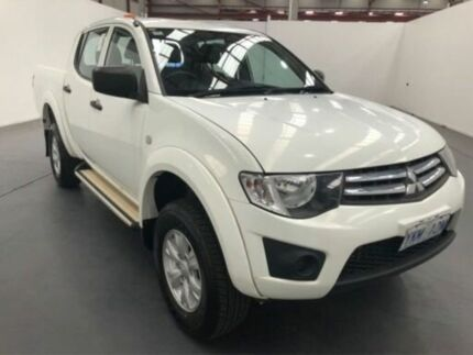 2015 Mitsubishi Triton MN MY15 GLX (4x4) White 5 Speed Manual 4x4 Double Cab Utility Fyshwick South Canberra Preview