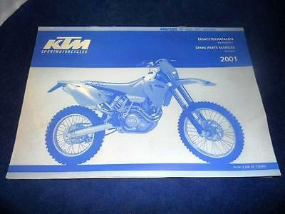 KTM Spare Parts Manual Chassis 2001 400 520 SX MXC EXC