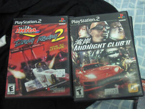 10 ps2 various racing games first $15 bucks takes them look