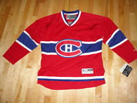 Montreal Canadiens Red Home Jersey NHL Hockey Reebok NWT XL