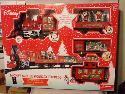 Disney Mickey Mouse Holiday Express 36 Piece Collectors Edition Train Set - NEW!
