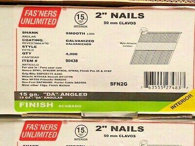 Finish Nails 2 15 Ga Da Angled Smooth Galvanized 1 Box 4000 Nails Free Ship
