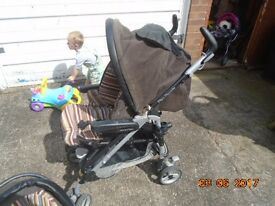 car seat, pram/ push chair with matching bag