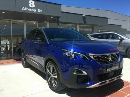 2017 Peugeot 3008 P84 MY18 GT Line SUV Blue 6 Speed Sports Automatic Hatchback Fyshwick South Canberra Preview