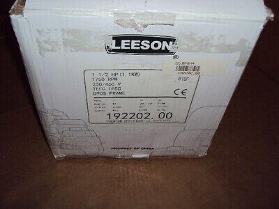 Leeson 192202.00 Motor 1 12 Hp 3-phase Nameplate Rpm 1745 230460v Ac
