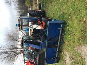 David brown 1212 tractor with blower
