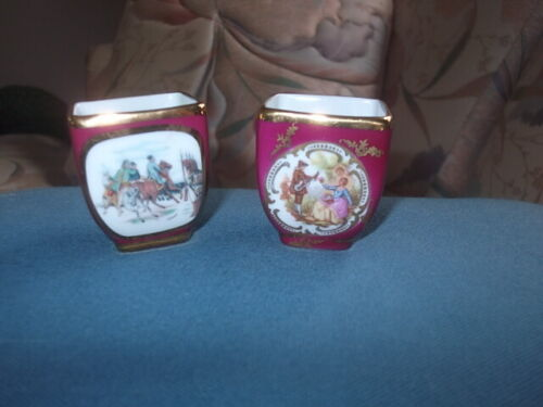 Limoges France Lot of Two Egg Holders With Amazing Decorations