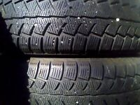 honda civic 4 winter tires with black steell rims