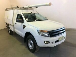 2014 Ford Ranger PX XL White Manual CAB CHASSIS SINGLE CAB Westdale Tamworth City Preview