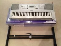 Yamaha YPT-300 with Stand and Yamaha AC Adapter
