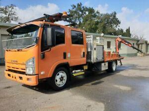2012 Isuzu NQR450 Dual Cab Orange Crane Truck 5.2l Homebush West Strathfield Area Preview