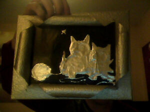 Handmade Metal Cats Picture