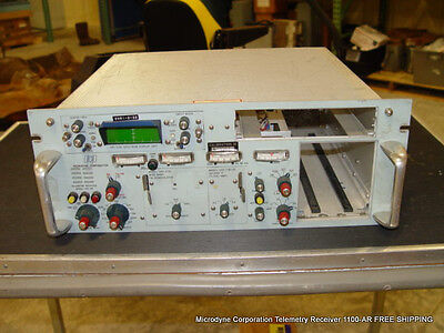 Used Microdyne Corporation Telemetry Receiver 1100-ar Free Shipping