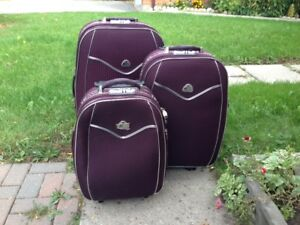 3 pc set - Travel Express Luggage (Burgundy)