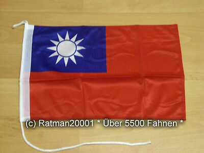 Fahnen Flagge Taiwan Bootsfahne Tischwimpel - 27 x 40 cm