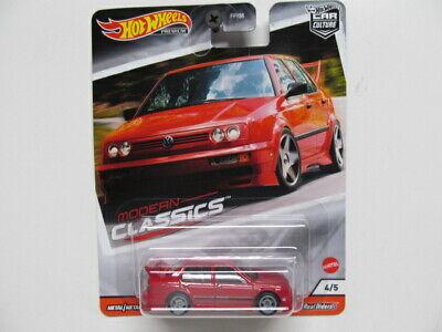 Hot Wheels Premium Modern Classics - Red Volkswagen Jetta MK3