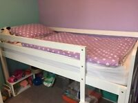 ASPACE Full sized White Midsleeper Bed suitable for aged 6+