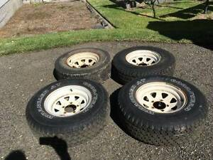 Sunraysia type wheels - Suzuki 4WD, Daihatsu F20, F50, Ford F10 Shortland Newcastle Area Preview