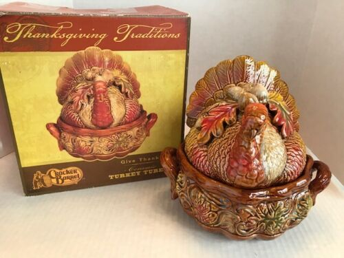 Ceramic Cracker Barrel Turkey Tureen