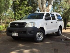 2011 Toyota Hilux TGN16R MY10 Workmate White 5 Speed Manual Utility Hawthorn Mitcham Area Preview
