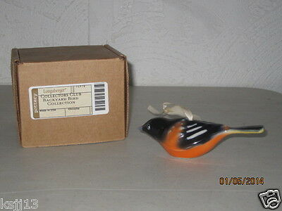 Longaberger Collector Club Backyard Bird Oriole New In Box