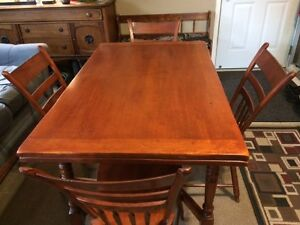 Antique dinning table set & hutch