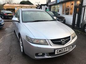 2003 Honda Accord 2.0 i VTEC Executive 4dr , AUTOMATIC, FULL LEATHER HEATED SEATS, SUNROOF, GOOD RUN