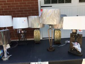 High end table lamps...new.