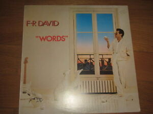"a4 vinyl 12"" F.R. DAVID WORDS Carrere Italy - Italia - a4 vinyl 12"" F.R. DAVID WORDS Carrere Italy - Italia"