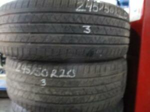 245/50 R20 CONTINENTAL GLOSS CONTACT USED TIRES (SET OF 4) - APPROX. 75% TREAD