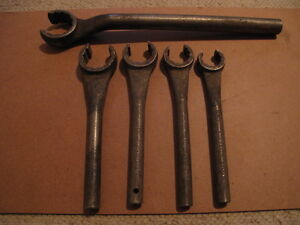 Vintage Snap on Crowfoot flare nut tubing line wrenches