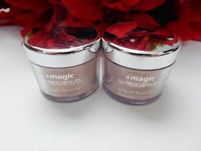 PRESCRIPTIVES Liquid Magic Face Powder Jar .28 oz  x 2 LOT OF -