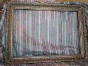 Antique gold leaf picture frame